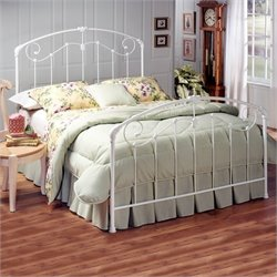 Hillsdale Maddie White Metal Panel Bed - Twin