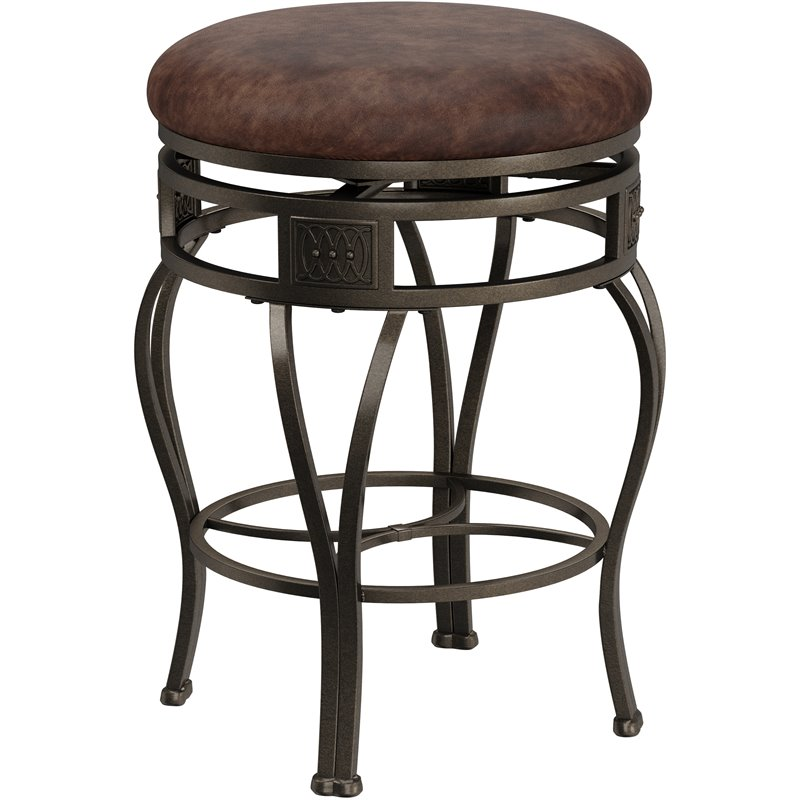 Hillsdale Montello 26 Swivel Counter Stool In Brown 4361 827h
