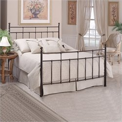 Hillsdale Providence Metal Panel Bed in Antique Bronze Finish - King