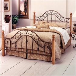Hillsdale San Marco Metal Poster Bed in Brown Rust Copper Finish - Full