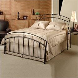 Hillsdale Vancouver Metal Panel Bed in Antique Brown - Queen
