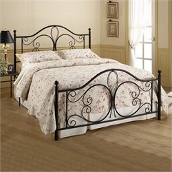 Hillsdale Milwaukee Antique Metal Poster Bed in Brown Finish - King