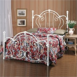 Hillsdale Cherie White Metal Poster Bed - Full