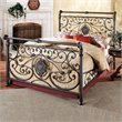 Hillsdale Mercer Metal Sleigh Bed in Antique Brown Finish
