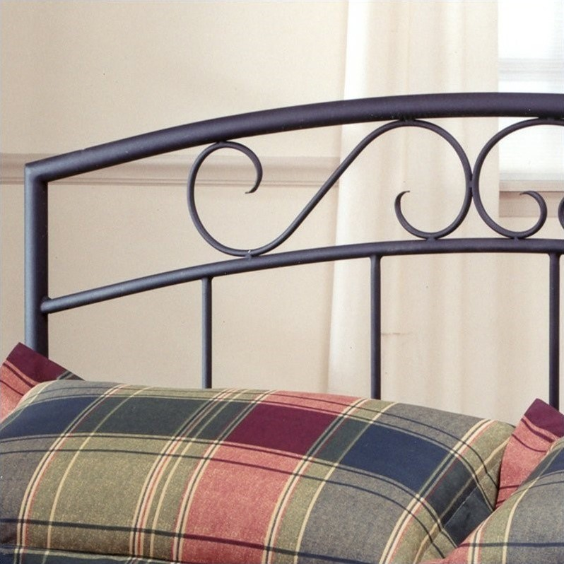Hillsdale Wendell Metal Panel Bed with Textured Black