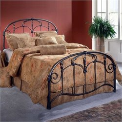 Hillsdale Jacqueline Metal Panel Bed in Antique Dark Gray Finish - King