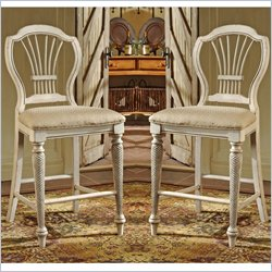 Hillsdale Wilshire White 24 Inch Counter Stool (Set of 2)