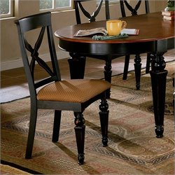 Hillsdale Northern Heights Side Chair in Black/Cherry (Set of 2)