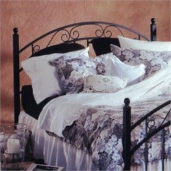 Hillsdale Willow Panal Headboard in Matte Black - Queen