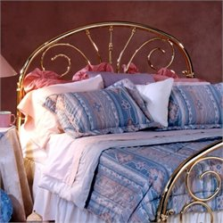 Hillsdale Jackson Metal Headboard in Classic Brass - Queen