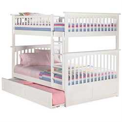Atlantic Furniture Columbia Trundle Bunk Bed in White