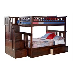 Atlantic Furniture Columbia Staircase Full over Full Bunk Bed