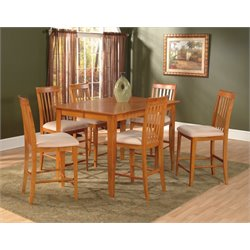Atlantic Furniture Montreal 7 Piece Counter Height Dining Set