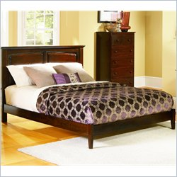 Atlantic Furniture Monterey Platform Bed with Open Footrail in Antique Walnut - King