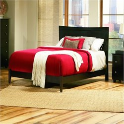 Atlantic Furniture Miami Modern Platform Bed with Open Footrail in Espresso - King