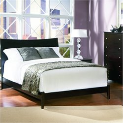 Atlantic Furniture Milano Platform Bed with Open Footrail in Espresso Finish - Full