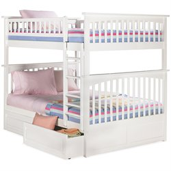Atlantic Furniture Columbia Storage Bunk Bed in White