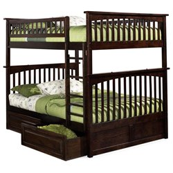 Atlantic Furniture Columbia Storage Bunk Bed in Walnut