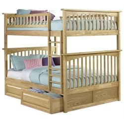 Atlantic Furniture Columbia Storage Bunk Bed in Natural