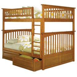 Atlantic Furniture Columbia Storage Bunk Bed in Caramel Latte