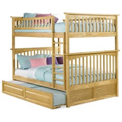 Atlantic Furniture Columbia Trundle Bunk Bed in Natural