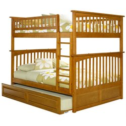 Atlantic Furniture Columbia Trundle Bunk Bed in Caramel Latte