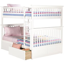 Atlantic Furniture Columbia Urban Storage Bunk Bed in White