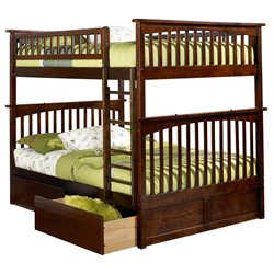 Atlantic Furniture Columbia Urban Storage Bunk Bed in Walnut