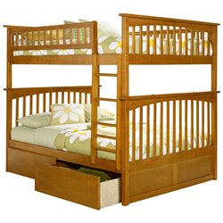 Atlantic Furniture Columbia Urban Storage Bunk Bed in Caramel Latte