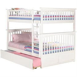 Atlantic Furniture Columbia Urban Trundle Bunk Bed in White