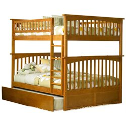 Atlantic Furniture Columbia Urban Trundle Bunk Bed in Caramel Latte
