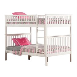Atlantic Furniture Woodland Bunk Bed in White