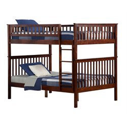 Atlantic Furniture Woodland Bunk Bed in Walnut