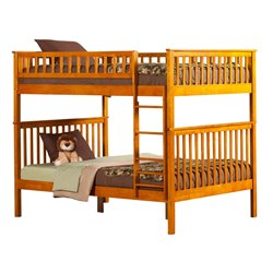 Atlantic Furniture Woodland Bunk Bed in Caramel Latte