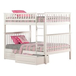 Atlantic Furniture Woodland Storage Bunk Bed in White