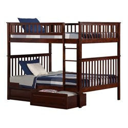 Atlantic Furniture Woodland Storage Bunk Bed in Walnut