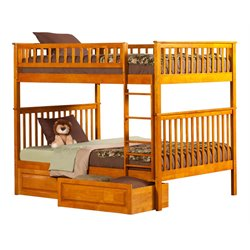 Atlantic Furniture Woodland Storage Bunk Bed in Caramel Latte