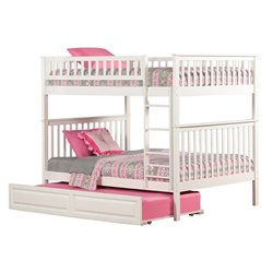 Atlantic Furniture Woodland Trundle Bunk Bed in White