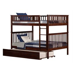 Atlantic Furniture Woodland Trundle Bunk Bed in Walnut