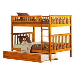 Atlantic Furniture Woodland Trundle Bunk Bed in Caramel Latte