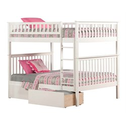 Atlantic Furniture Woodland Urban Storage Bunk Bed in White
