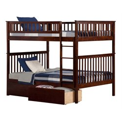 Atlantic Furniture Woodland Urban Storage Bunk Bed in Walnut