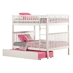 Atlantic Furniture Woodland Urban Trundle Bunk Bed in White