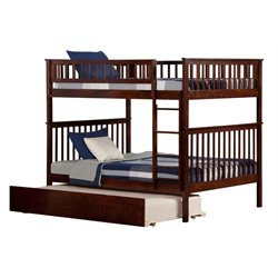 Atlantic Furniture Woodland Urban Trundle Bunk Bed in Walnut