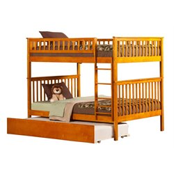 Atlantic Furniture Woodland Urban Trundle Bunk Bed in Caramel Latte