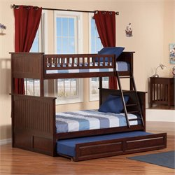 Atlantic Furniture Nantucket Trundle Bunk Bed in Walnut