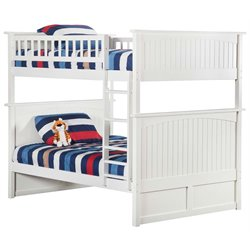 Atlantic Furniture Nantucket Bunk Bed in White
