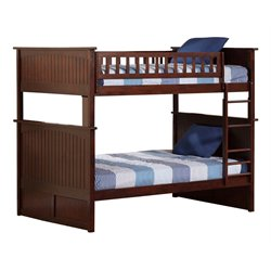 Atlantic Furniture Nantucket Bunk Bed in Walnut