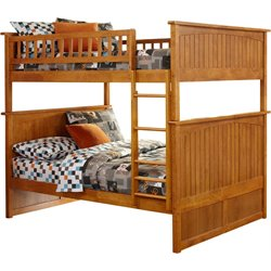 Atlantic Furniture Nantucket Bunk Bed in Caramel Latte