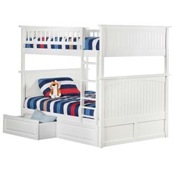 Atlantic Furniture Nantucket Storage Bunk Bed in White